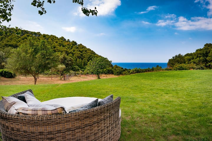 Lounger with stunning views