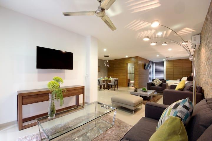 Gorgeous loft,common pool, convenient location,AC