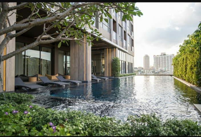Brandnew Luxury,Near skytrain, airport link,Wifi,2 - Banguecoque - Apartamento