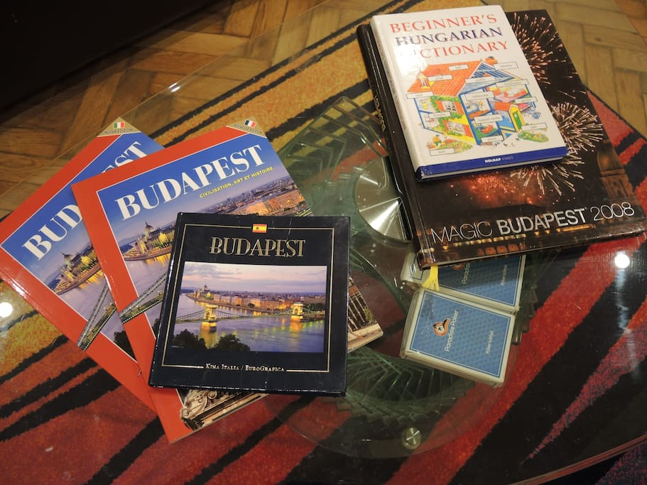 Books about Budapest in English, German, French and Italian