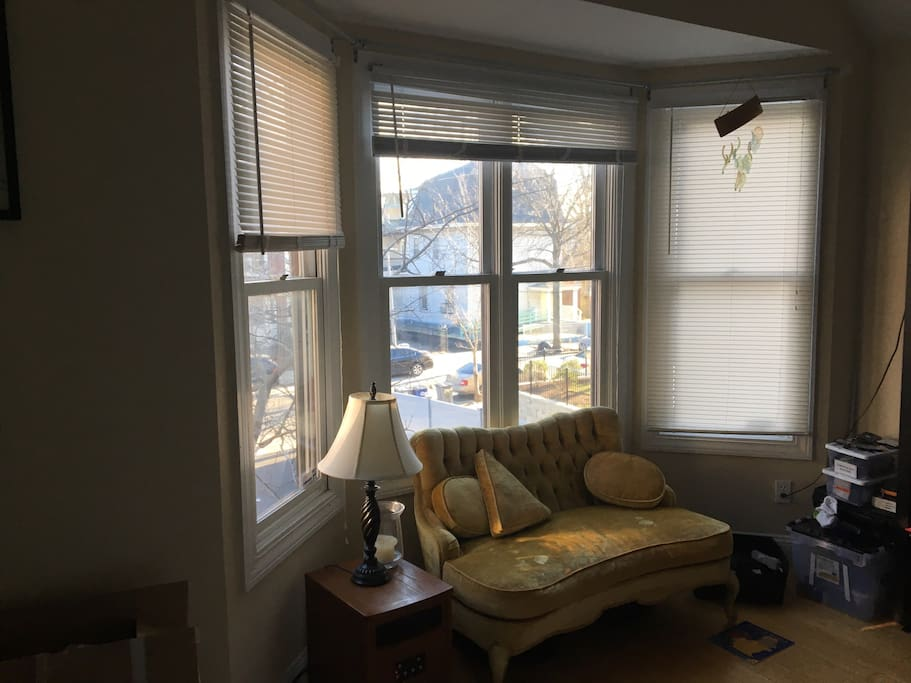Sunny master with window seating