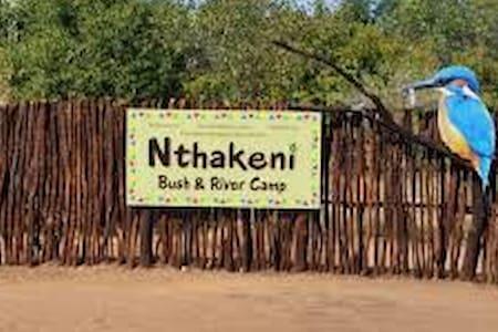 Nthakeni Bush and River Camp Mushato camp stand