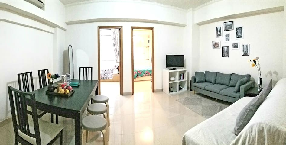 Spacious cozy home in Kowloon 10min to MTR