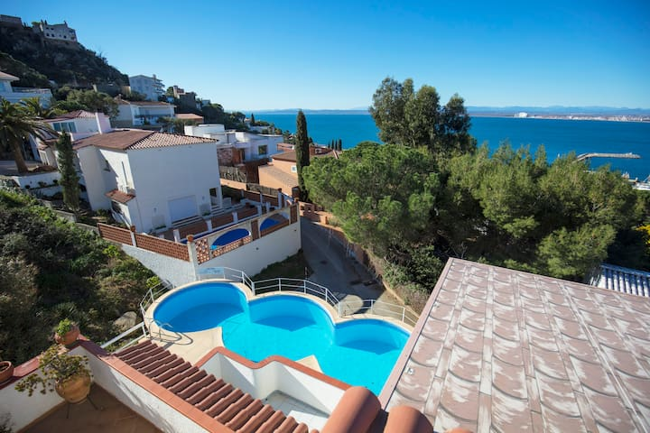 Apartment 4 pers Seaview Pool ! - Roses - Byt