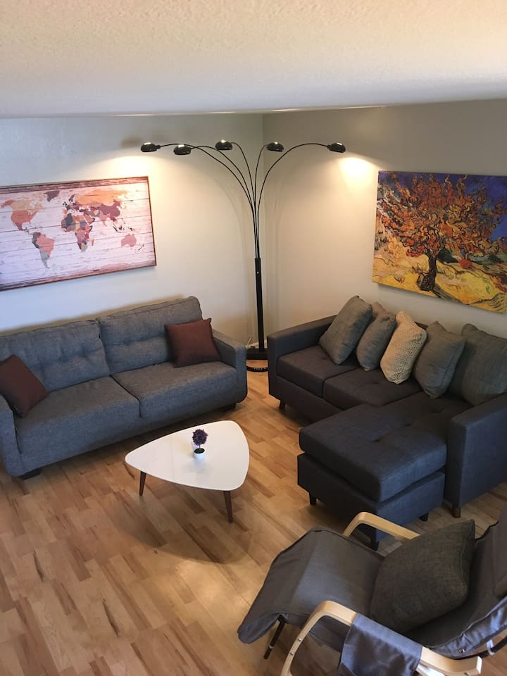 Comfy Living room seating for your relaxtion time.
