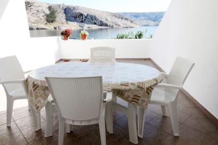 2 Bedroom Sea view apartment with terrace, Metajna