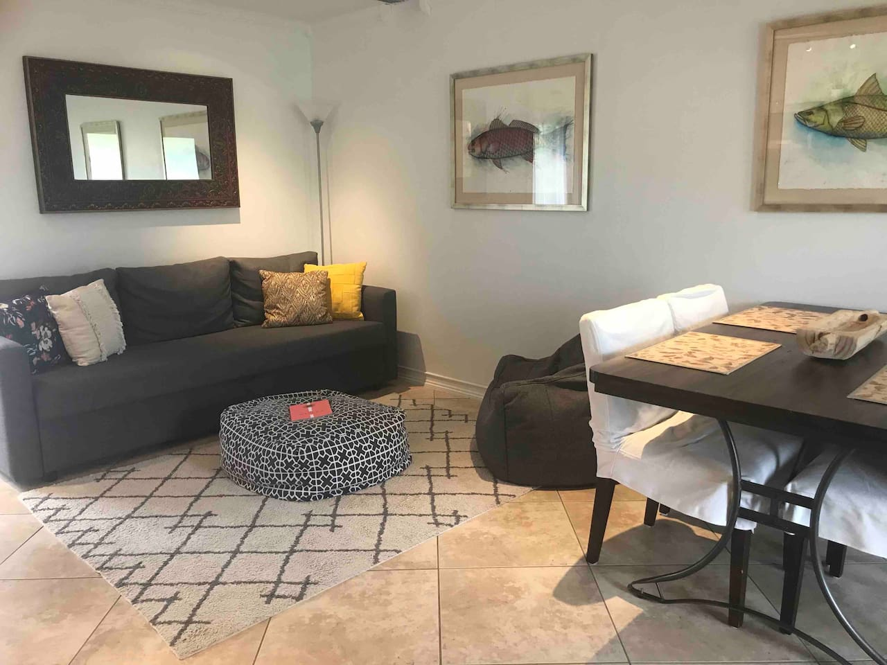 Welcome to your HOME away from home! This beautiful one-bedroom, one bath cottage offers a private entrance and back porch. Pssst! We also have a gorgeous tropical butterfly garden.