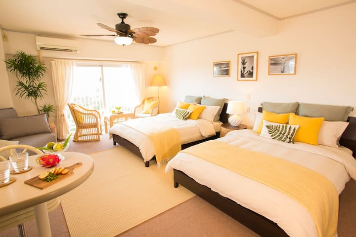 Okinawa Suite Room in Onna-son ~2min walk to beach