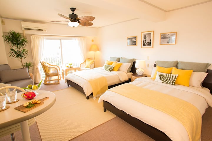 Okinawa Suite Room in Onna-son ~2min walk to beach