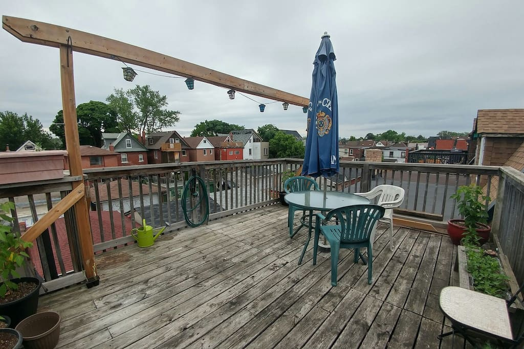 3rd floor deck, just outside your room!