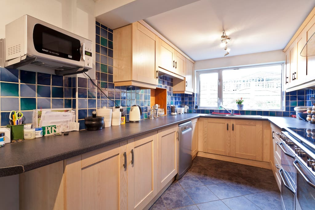 Our Galley Kitchen which has everything you need to make a wonderful meal.