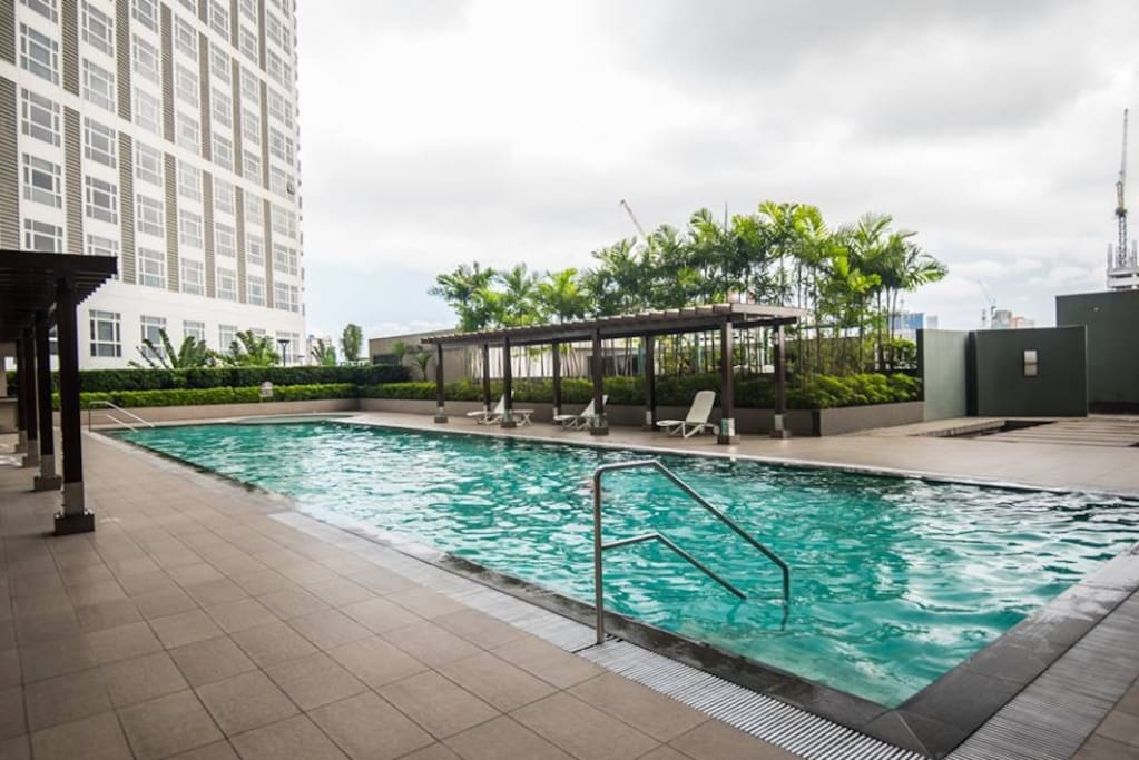 The pool is being maintained regularly and at par with hotel standards.