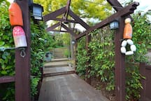 Entrance to large garden property