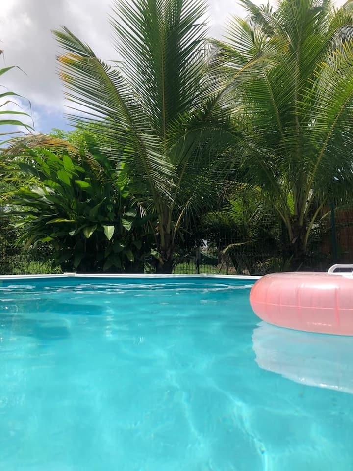 Maison+piscine à-5minutes du centre ville.Lac bleu