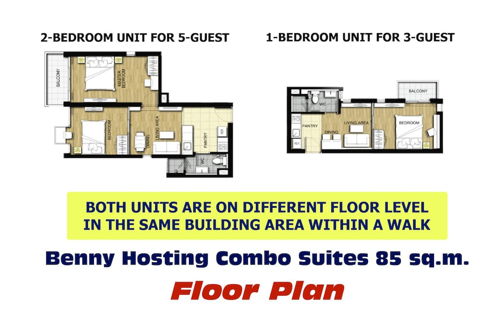 Floor Plan of 2 units