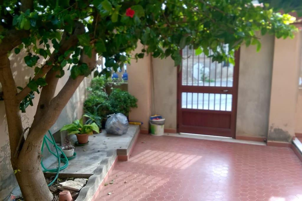 Giardino ingresso.