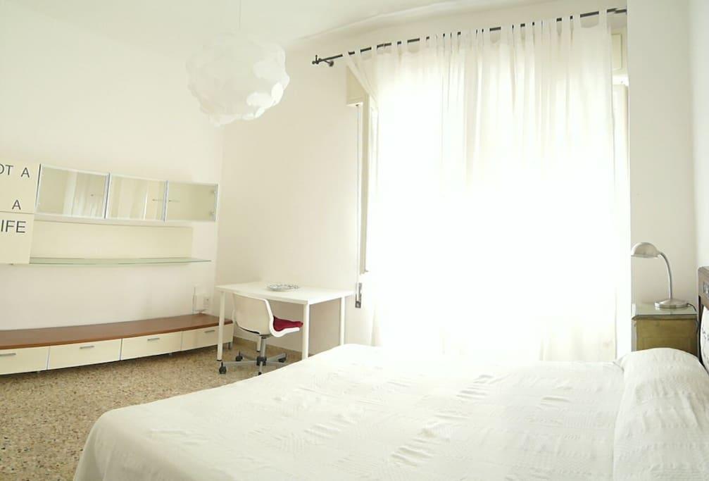 Panoramica prima camera da letto