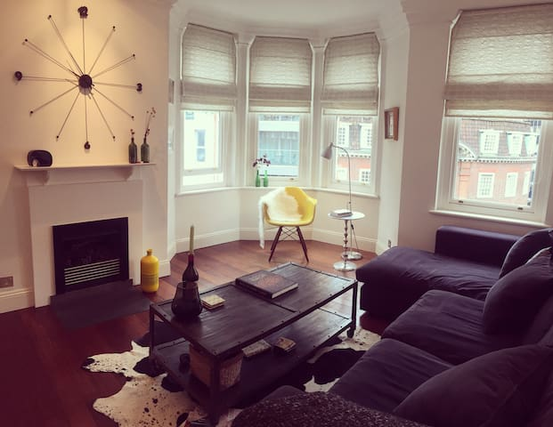1BR spacious character home in a central location