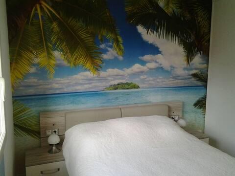 Chambre +Tv+ garage ( petit déjeuner+wifi gratuit)