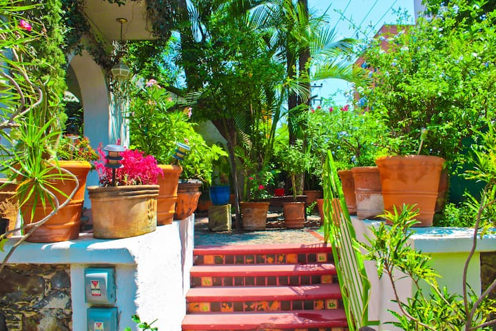 1 Beautiful  Apartment with private mexican patio.
