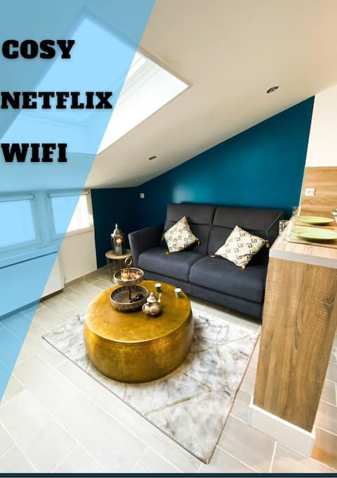 Studio NOUR : Cosy & Chaleureux (WIFI, NETFLIX..)