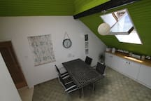 Fully equipped communal guest kitchen