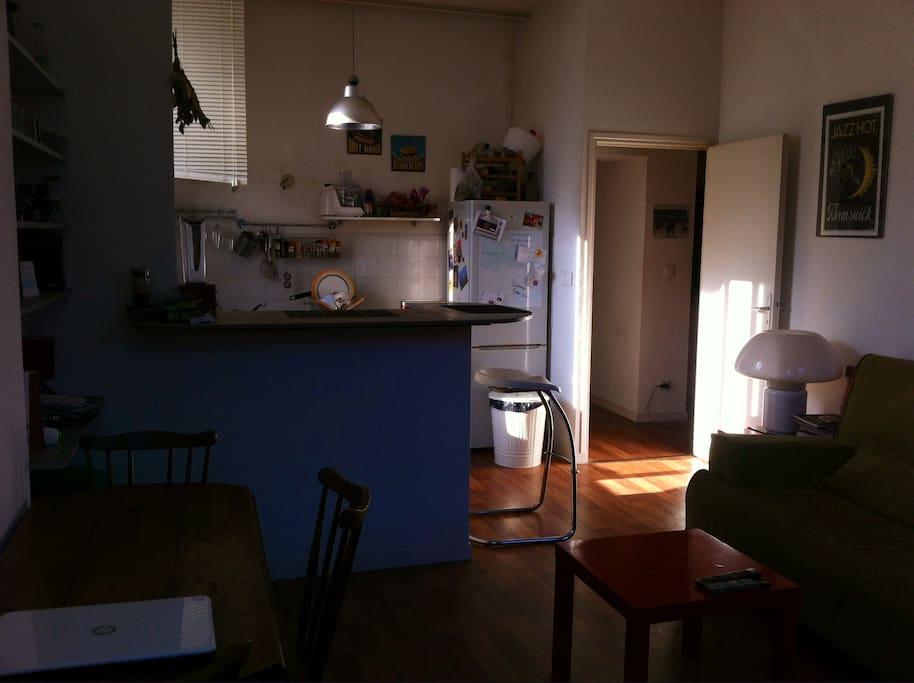 Salon/cuisine