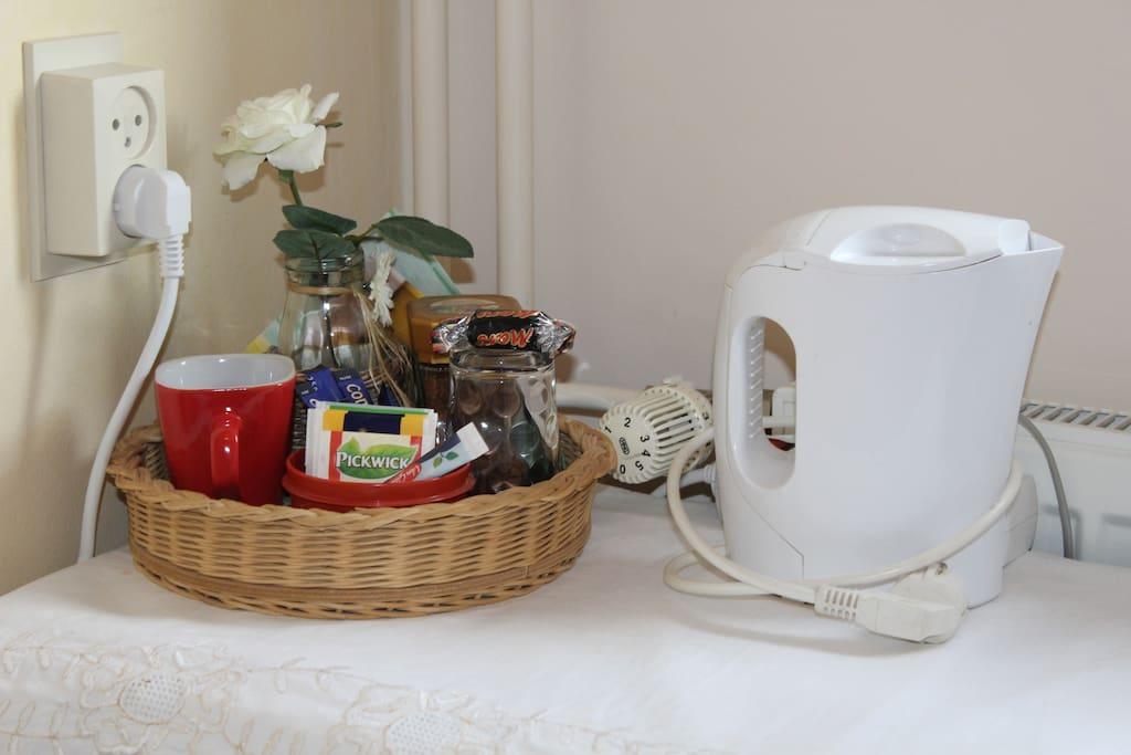 Koffie en thee faciliteit