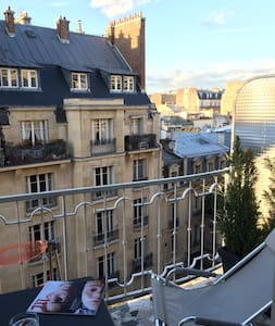 Studio, aéré et spacieux, terasse ensoleillée - Paris