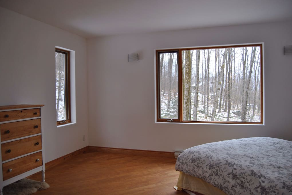 Large first bedroom.  Clean and bright with great views.
