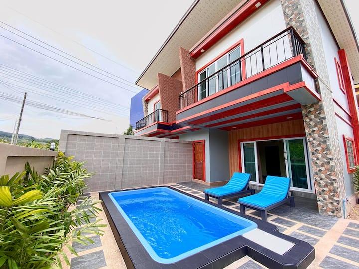 Villa with private pool near beautiful beach