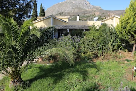 Beautiful remote Bio -farm Villa & pool - Solomos