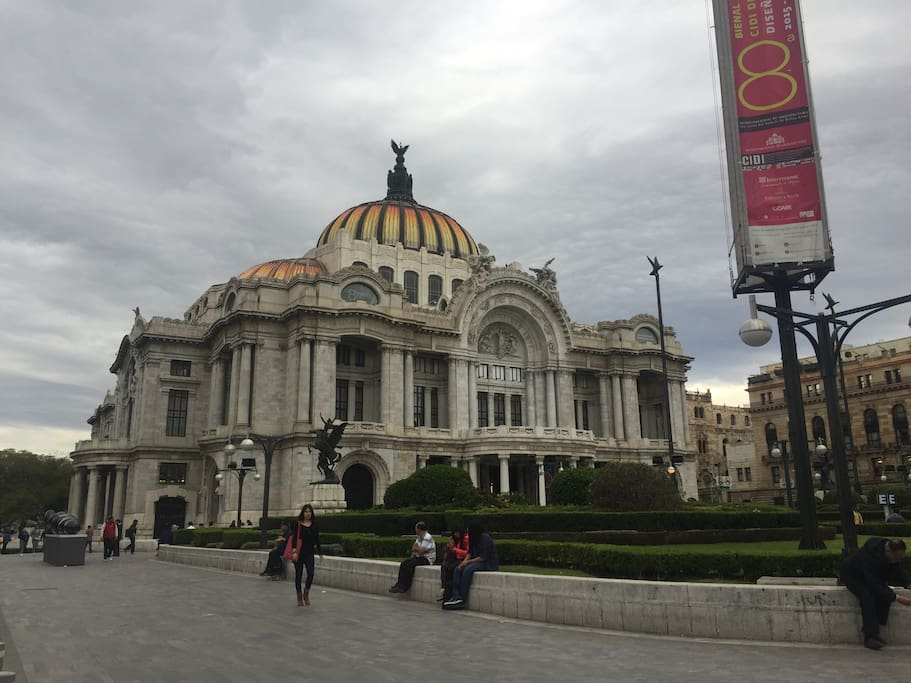 Bellas artes Park 3 blocks distance and main concert place in the city