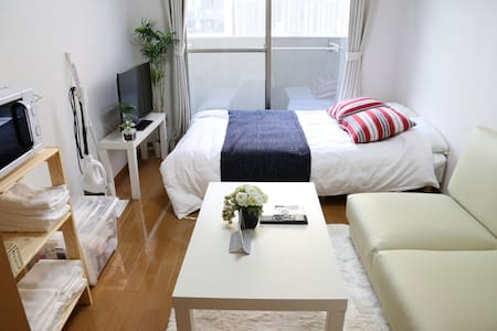 No Charge!!Next to OCAT Namba Sta+WIFI TV 2-4ppl - Naniwa-ku, Ōsaka-shi