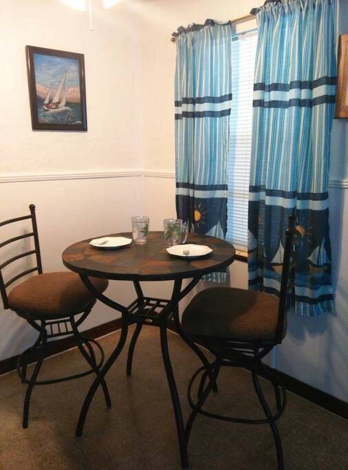 Enjoy your gourmet delights in your dining nook.