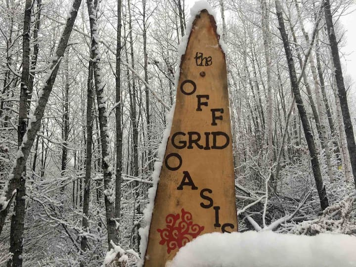 Winter Camping-The Off Grid Oasis   Tent #1