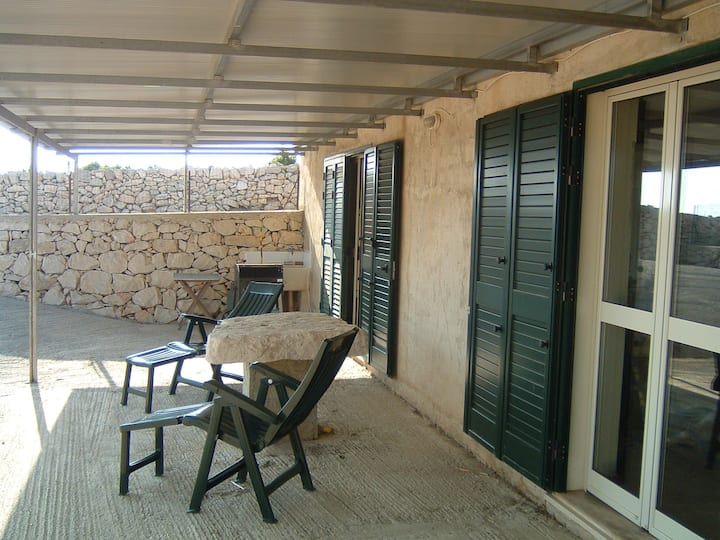 Studio with large terrace with panoramic view