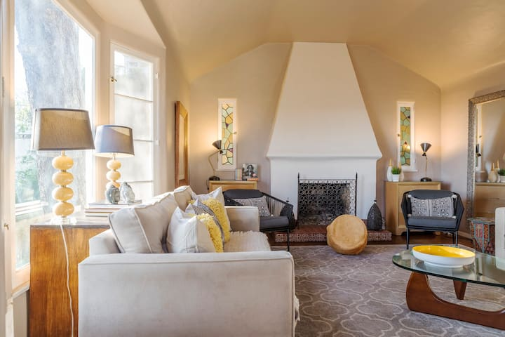 Your authentic 1932 Spanish Mission style living room