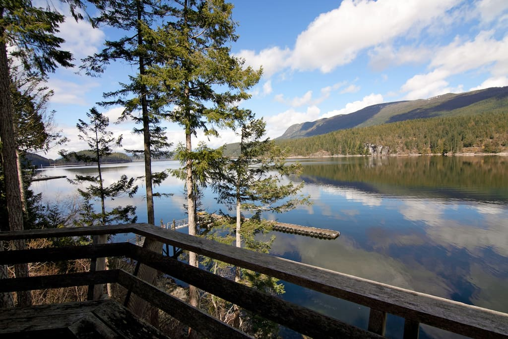 Enjoy stunning west coast views from the Desolation Sound Resort