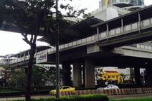 BTS Wong Wain Yai station at the meeting spot