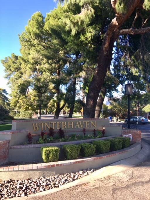 Winterhaven entrance on Ft. Lowell Rd. between Country Club & Tucson Blvd.