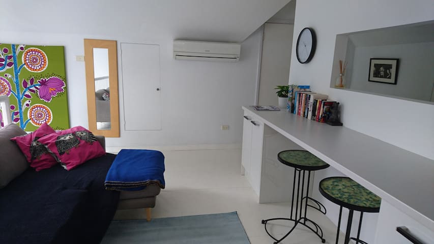 Lounge with air con and fan
