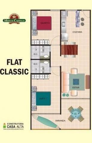 FLAT (Condomínio Monte Castelo) - Gravatá - Apartamento com serviços incluídos