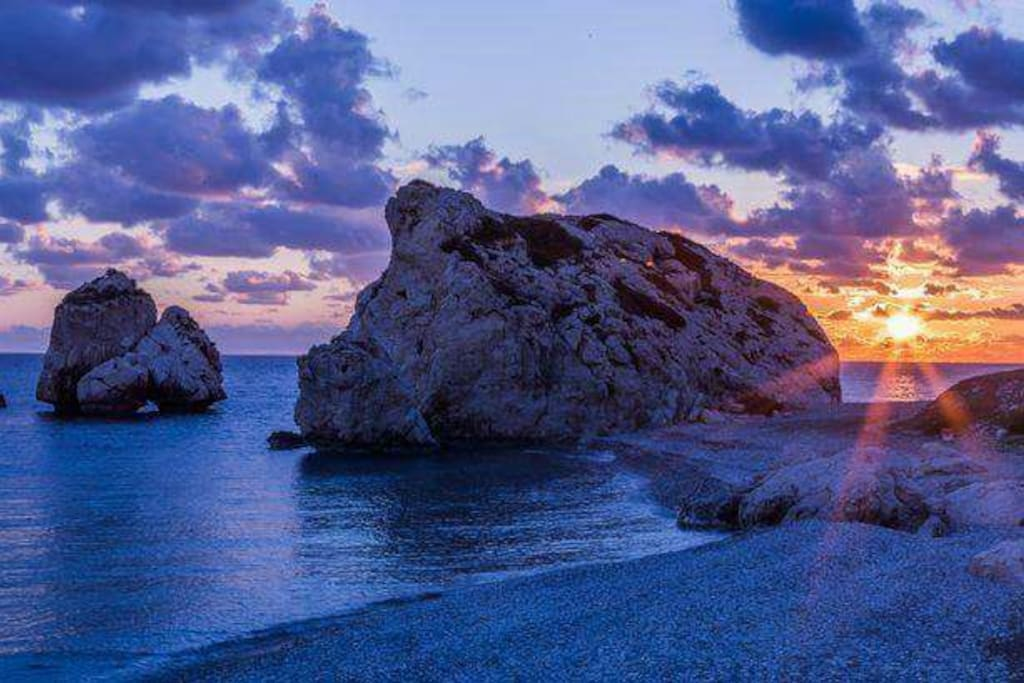 Ancient Greek Goddess of Love and Beauty - Aphrodite - was born of the sea foam here!