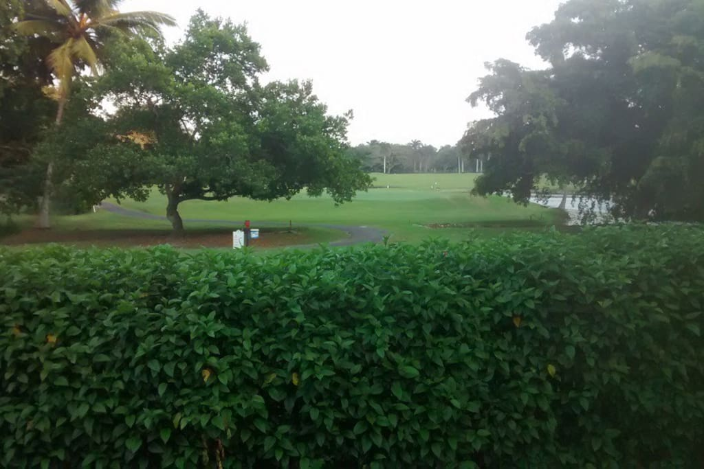 Huge and Wonderful golf course beside our complex and the sea!