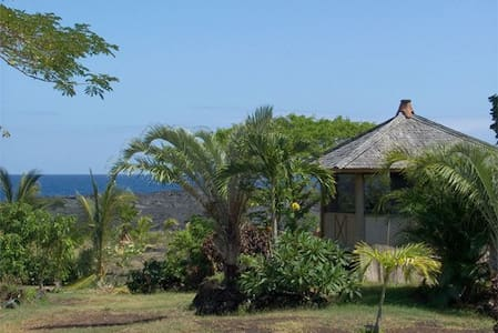 Introductory 30% discount:  Oceanfront Bali Hut - Pāhoa