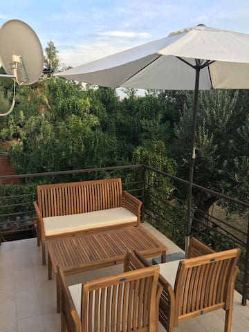 Modern apartment with a view of the olive grove