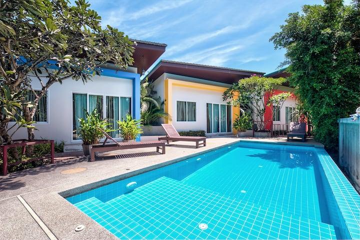 Modern 1 Bedroom & Pool, Quiet Area