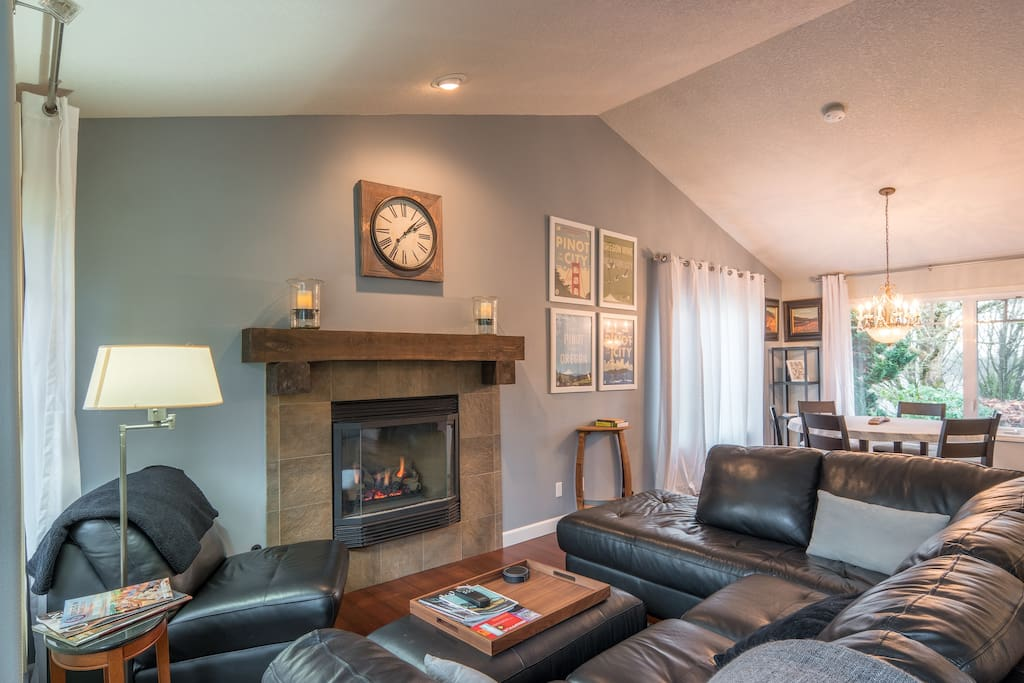 Living Room with Gas Fireplace and