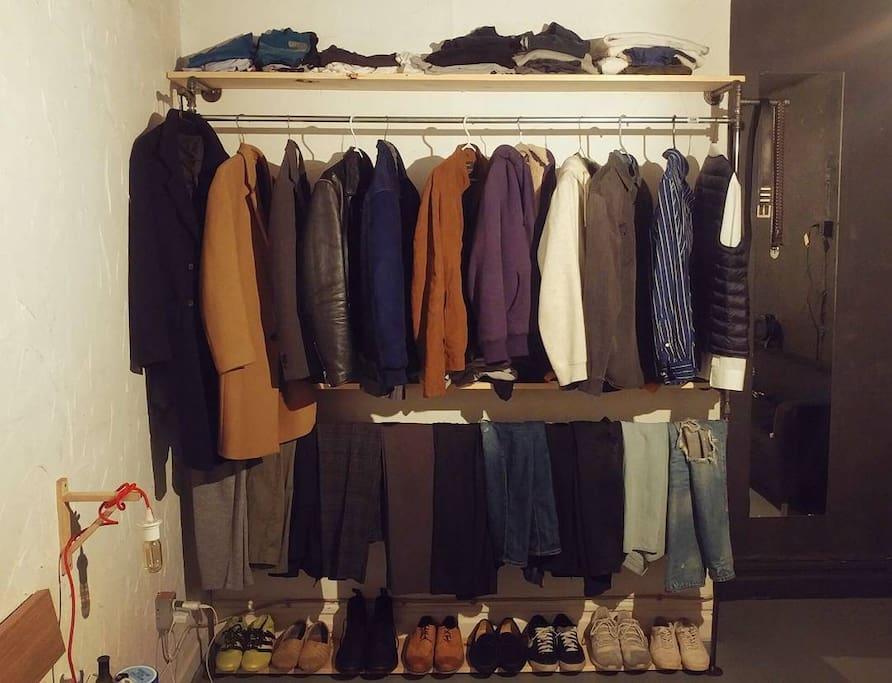 6' long steel pipe clothing rack